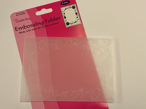 SALE - Embossing Folder - Flower Frame