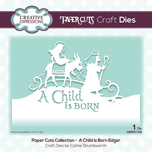 A child is born - Paper Cuts Edger