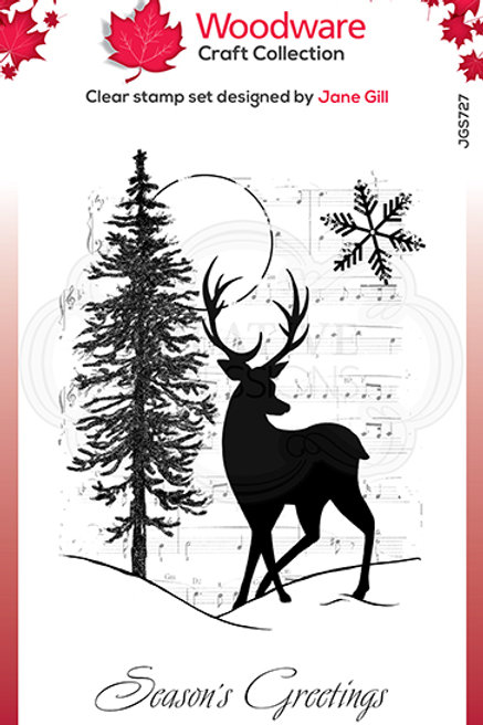 Woodware - Clear Stamp - Musical Deer