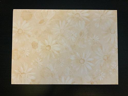 A4 Card- SALE - Cream Florals