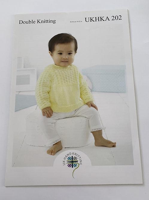 Baby DK Cardigan, Sweater & Hat Pattern