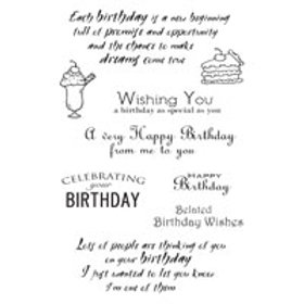 A6 Clear Stamp - Birthday Sentiments