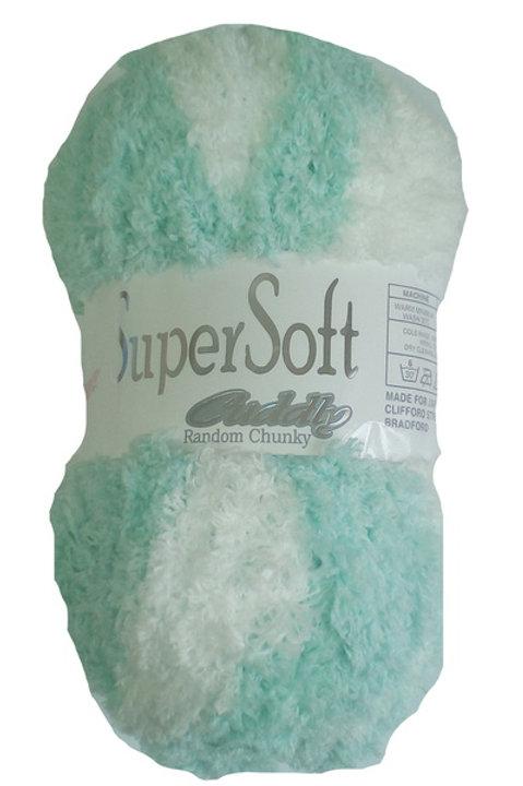 Super Soft Chunky - Mint & White