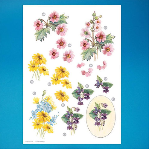 Diecut - A4 Sheet - Flowers