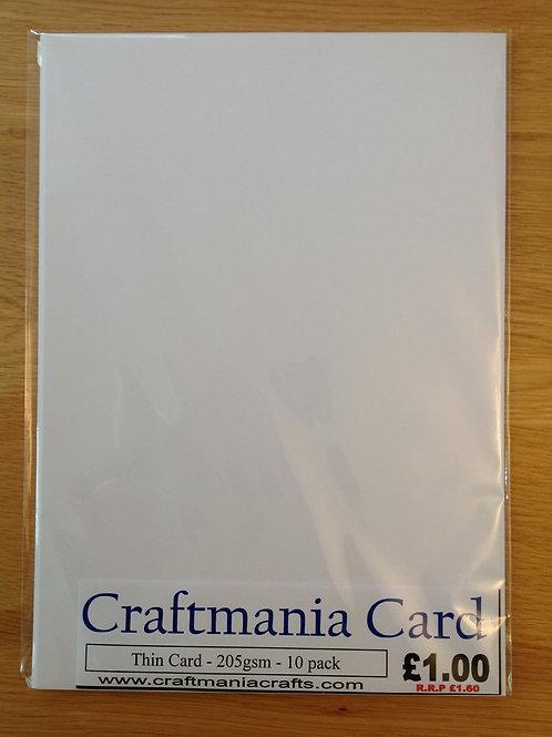 A4 - White Card - 10pk - 205gsm