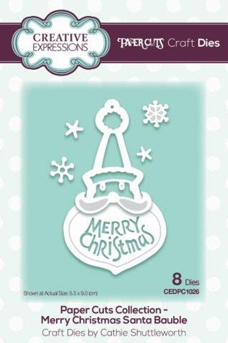 Paper Cuts Collection - Merry Christmas Santa bauble