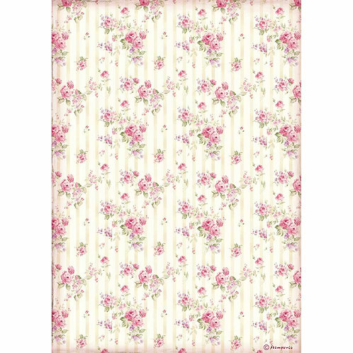 A4 - Rice Paper - Rose Wallpaper