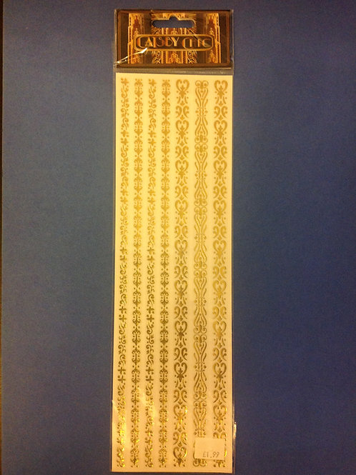 Gold Border Stickers