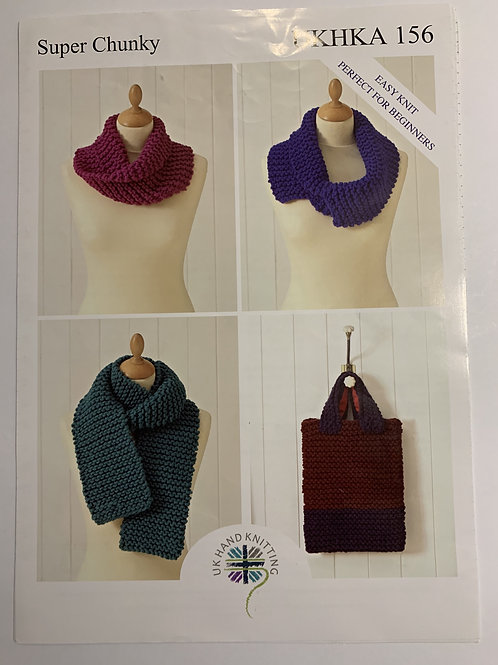 Super Chunky Bag, Hats, Scarf & Snood Pattern