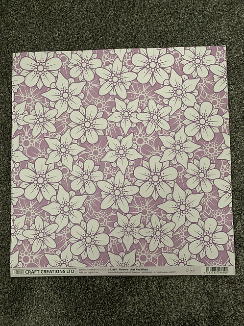 12 X 12 Craft Creations - Large Flowers