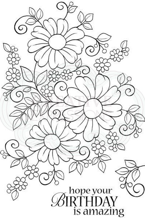 Bold Blooms Caroline - Clear Stamp