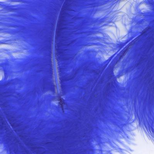 """Royal blue~ 8g ~Mixed 3-8"""" Feathers"""