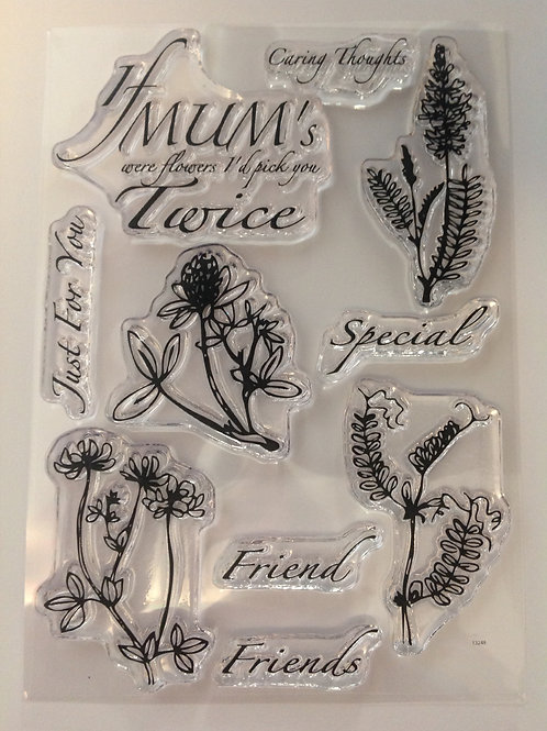 Clear Stamps -  - Mums Meadow