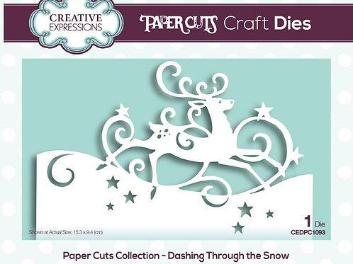 Papercuts die - Dashing through the snow