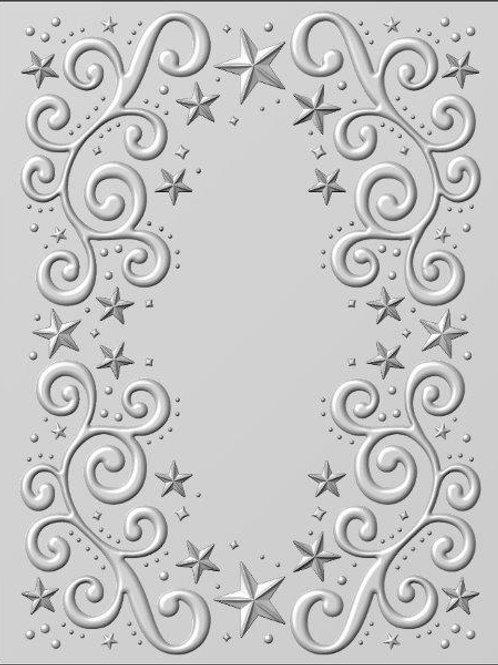 3d embossing folder - Twinkle Swirls