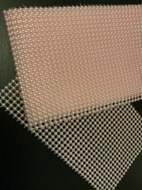 Pearl Mesh Sheet - Pink