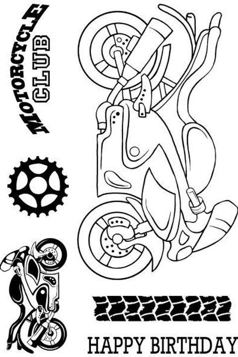 Motorbike - Clear Stamp