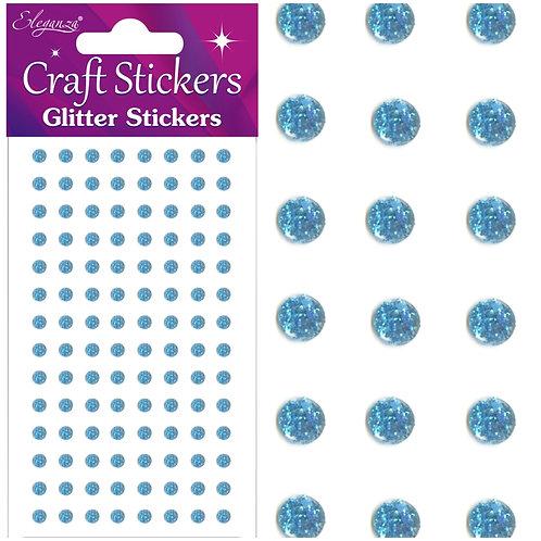 4mm Glitter gems - light blue