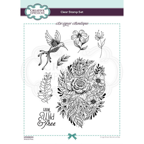 Designer Boutique - Clear Stamps - Wild & Free