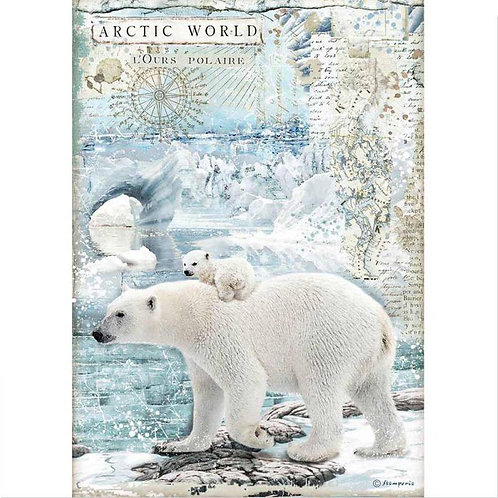A4 - Rice Paper - Artic World Polar Bears