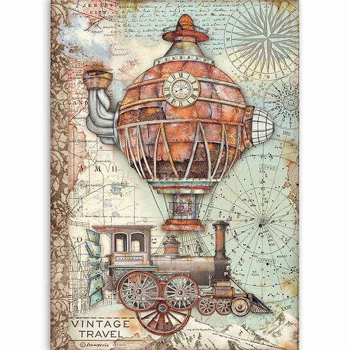 A4 - Rice Paper - Sir Vagabond Vintage Travel