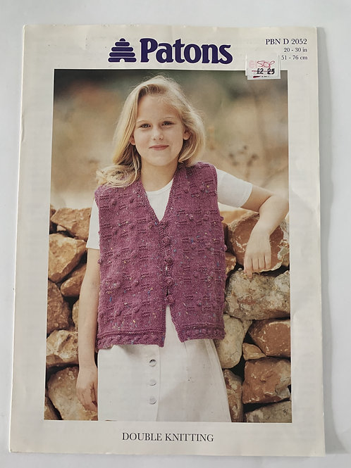 DK Children's Waistcoat Pattern