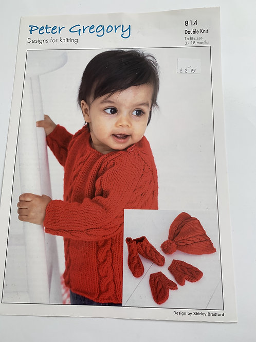Baby DK Babies Cabled Set Pattern