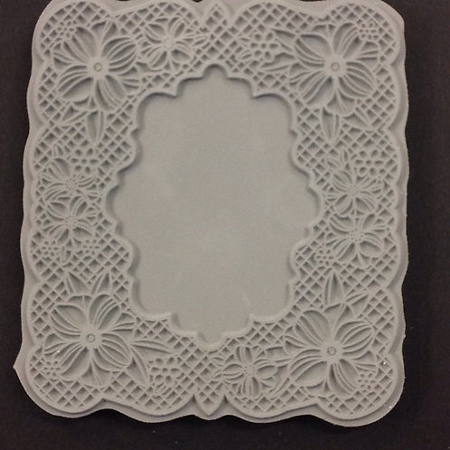 Floral- Foam mounted rubber stamp