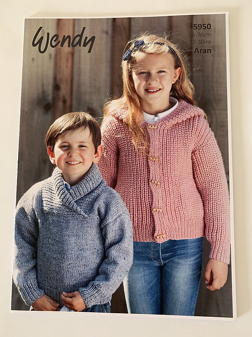 Aran Children's Sweater & Cardigan Pattern