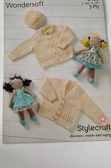 Baby 3ply Cardigan & Hat Pattern