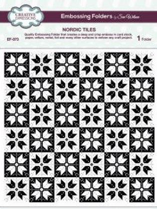 Nordic Tiles Embossing Folder