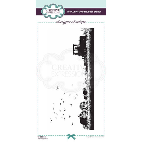 Harvest Time - Pre Mounted Rubber Stamp - Designer Boutique