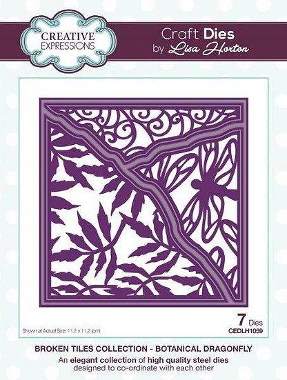 Botanical Dragonfly - Broken Tiles - Lisa Horton
