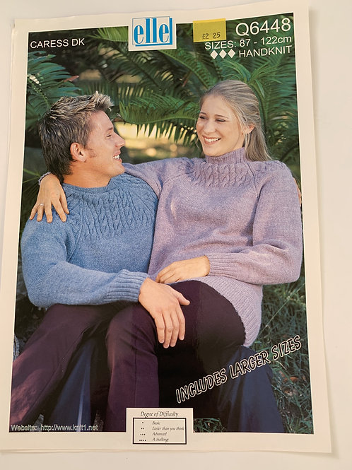 DK Mens & Ladies Sweater Pattern