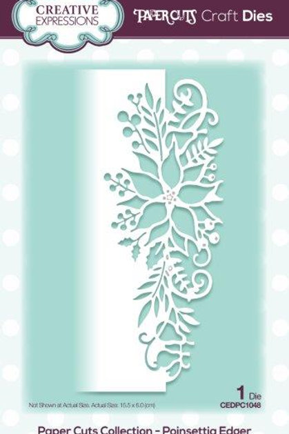 Paper Cuts Collection -Poinsettia Edger