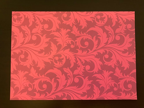 A4 Card- SALE - Fuchsia Flourish