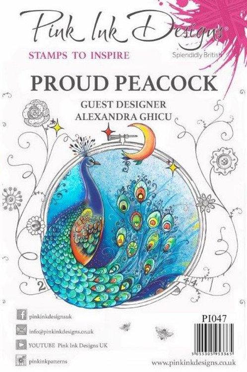 Pink ink - Proud Peacock
