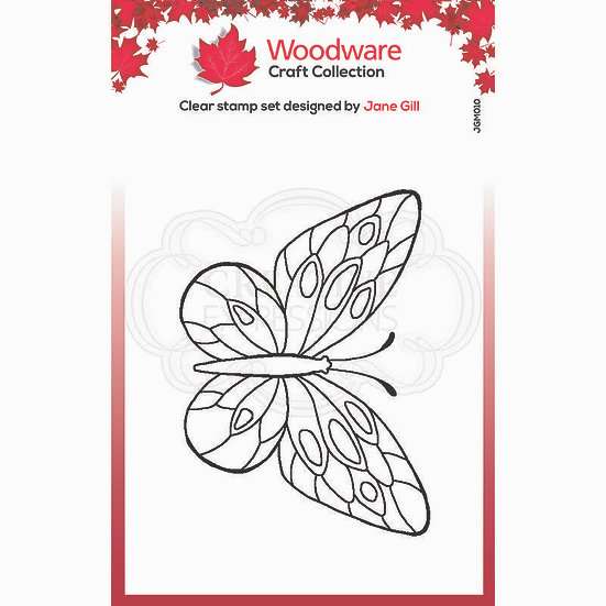Tortoiseshell Butterfly - Clear Stamp -  Woodware