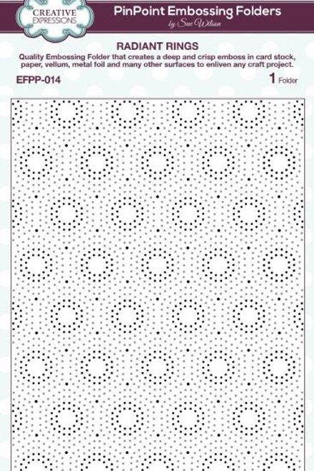 Radiant rings embossing folder