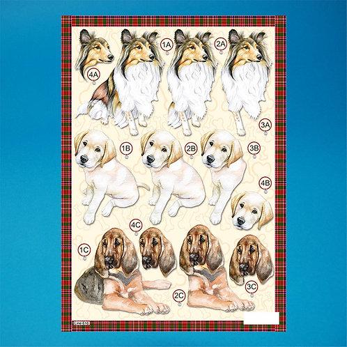 Diecut - A4 Sheet- Dogs
