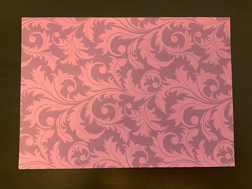 A4 Card- SALE - Purple Flourish