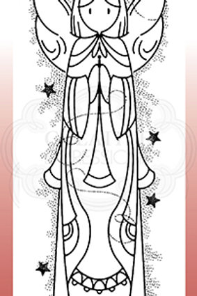 Woodware - Clear Stamp - Celestial Angel