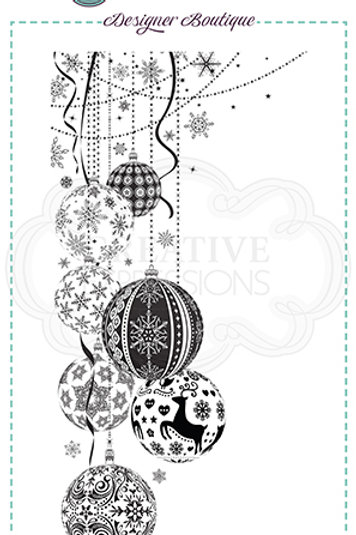 Designer Boutique - DL - Bauble Pendant   - Rubber Mounted Stamp