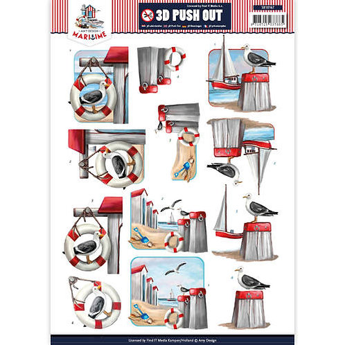 Nautical - Die Cut Decoupage Sheet - A4