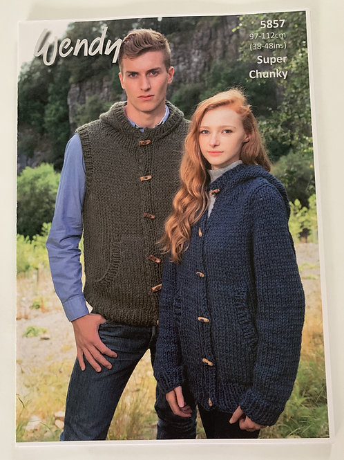Super Chunky Gillet & Jacket Pattern