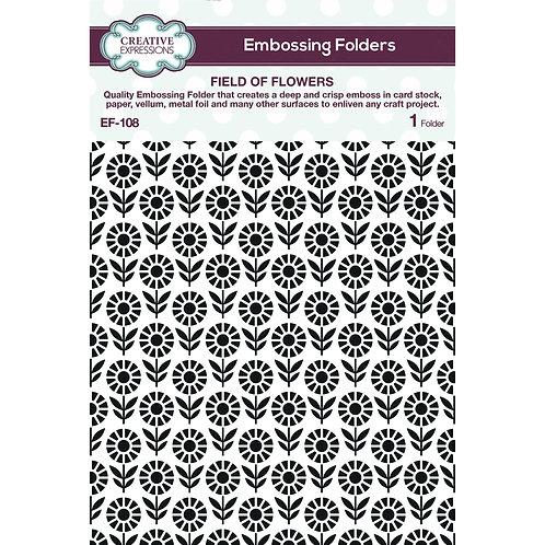 Field of flowers - Embossing folder*