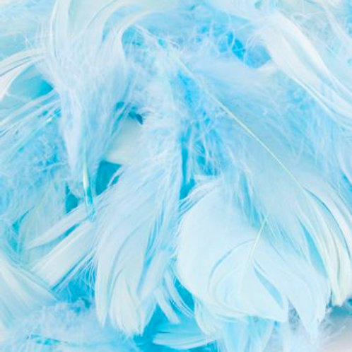 """Blue ~ 8g ~Mixed 3-8"""" Feathers"""