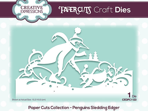 Paper Cuts - Penguins Sledding