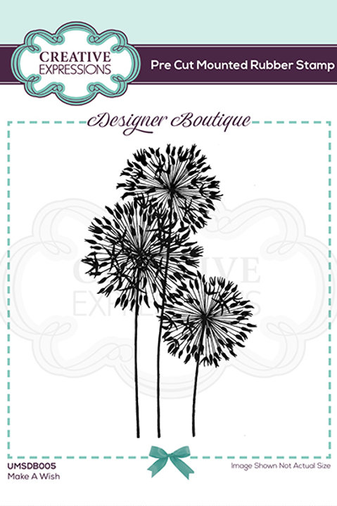 Make a wish - Mounted Rubber Stamp