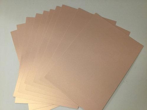 Pearl card - 10 pack - 300gsm - Rose Gold